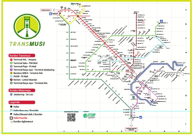 Rute Dan Halte Trans Musi Palembang