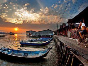 Wisata di Penang, Malaysia : Clan Jetties